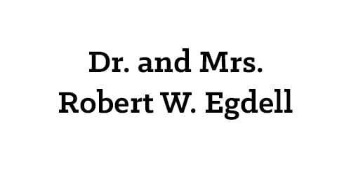Dr. and Mrs. Robert W. Egdell