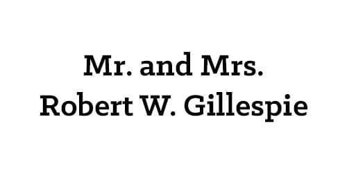 Mr. and Mrs. Robert W. Gillespie