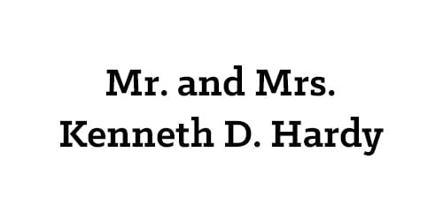 Mr. and Mrs. Kenneth D. Hardy