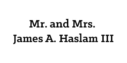 Mr. and Mrs. James A. Haslam III