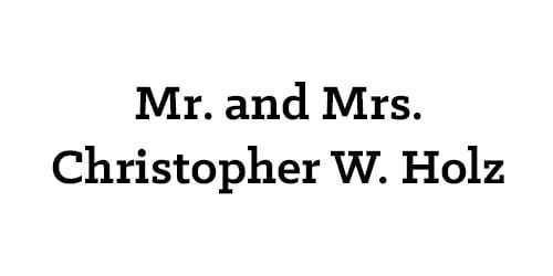 Mr. and Mrs. Christopher W. Holz