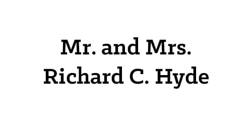 Mr. and Mrs. Richard C. Hyde