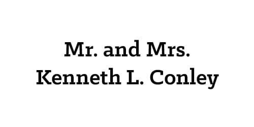 Mr. and Mrs. Kenneth L. Conley