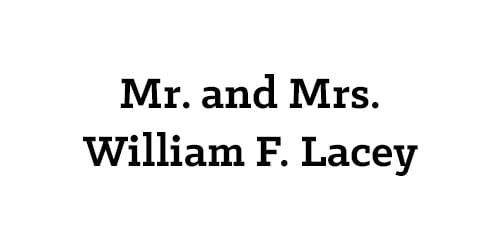Mr. and Mrs. William F. Lacey
