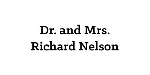 Dr. and Mrs. Richard Nelson