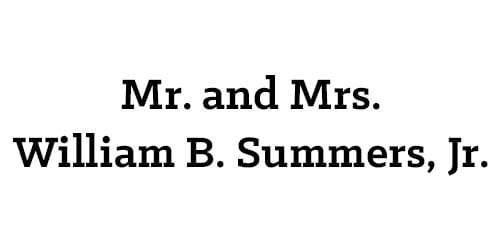 Mr. and Mrs. William B. Summers, Jr.